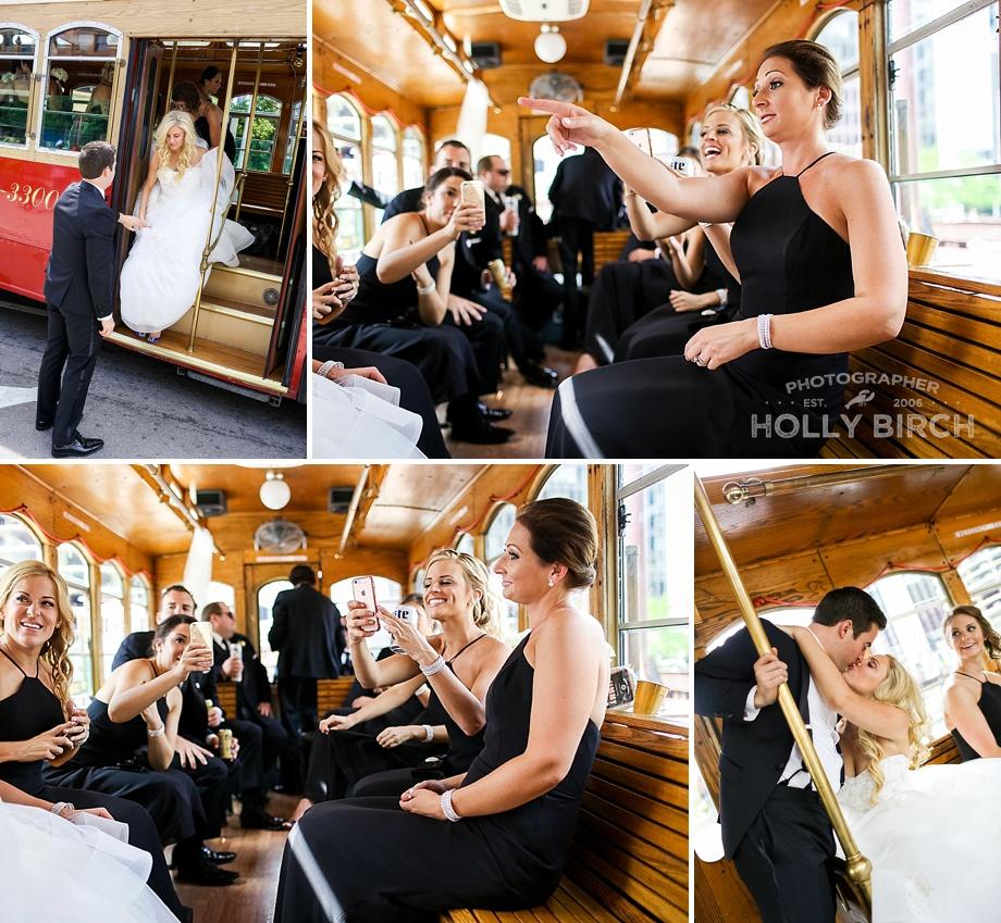 wedding shenanigans on the trolley