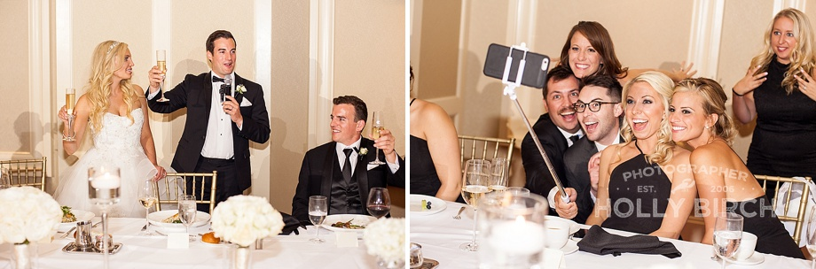 wedding toasts and selfies