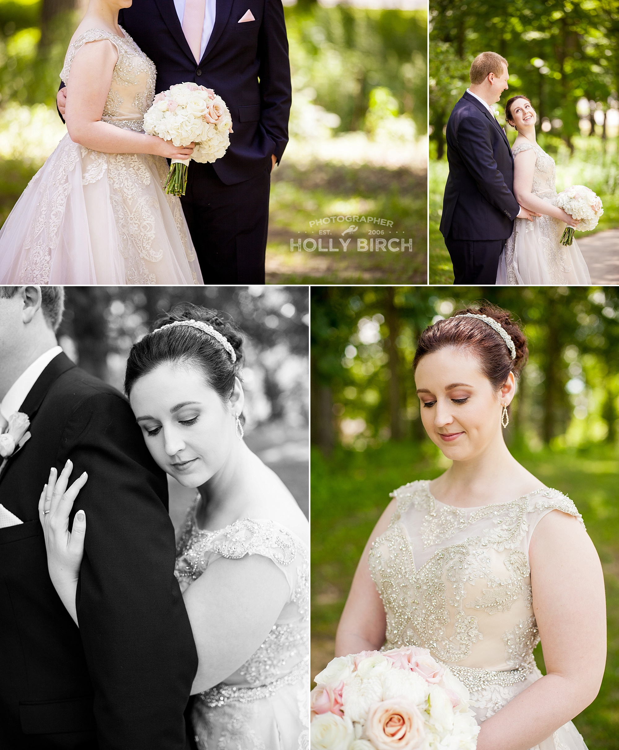bridal portraits at Lake of the Woods