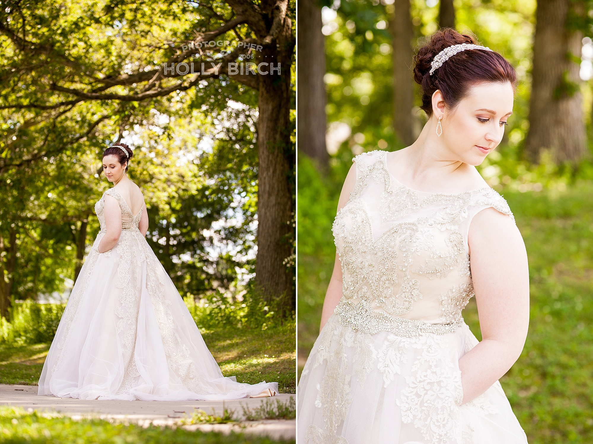 bridal image from two different angles