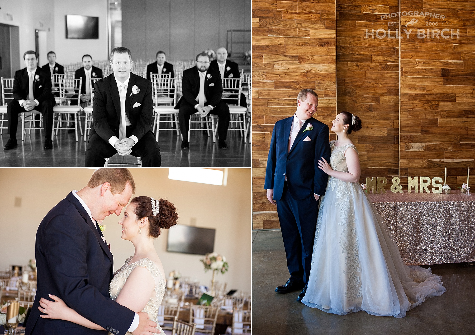 wedding pictures around Pear Tree building