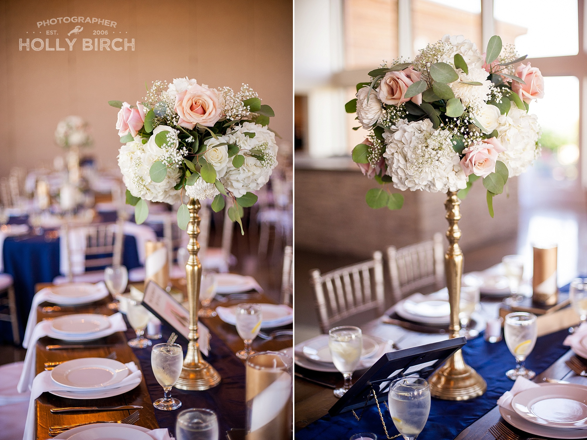 tall floral centerpieces by Flowers by Kristine