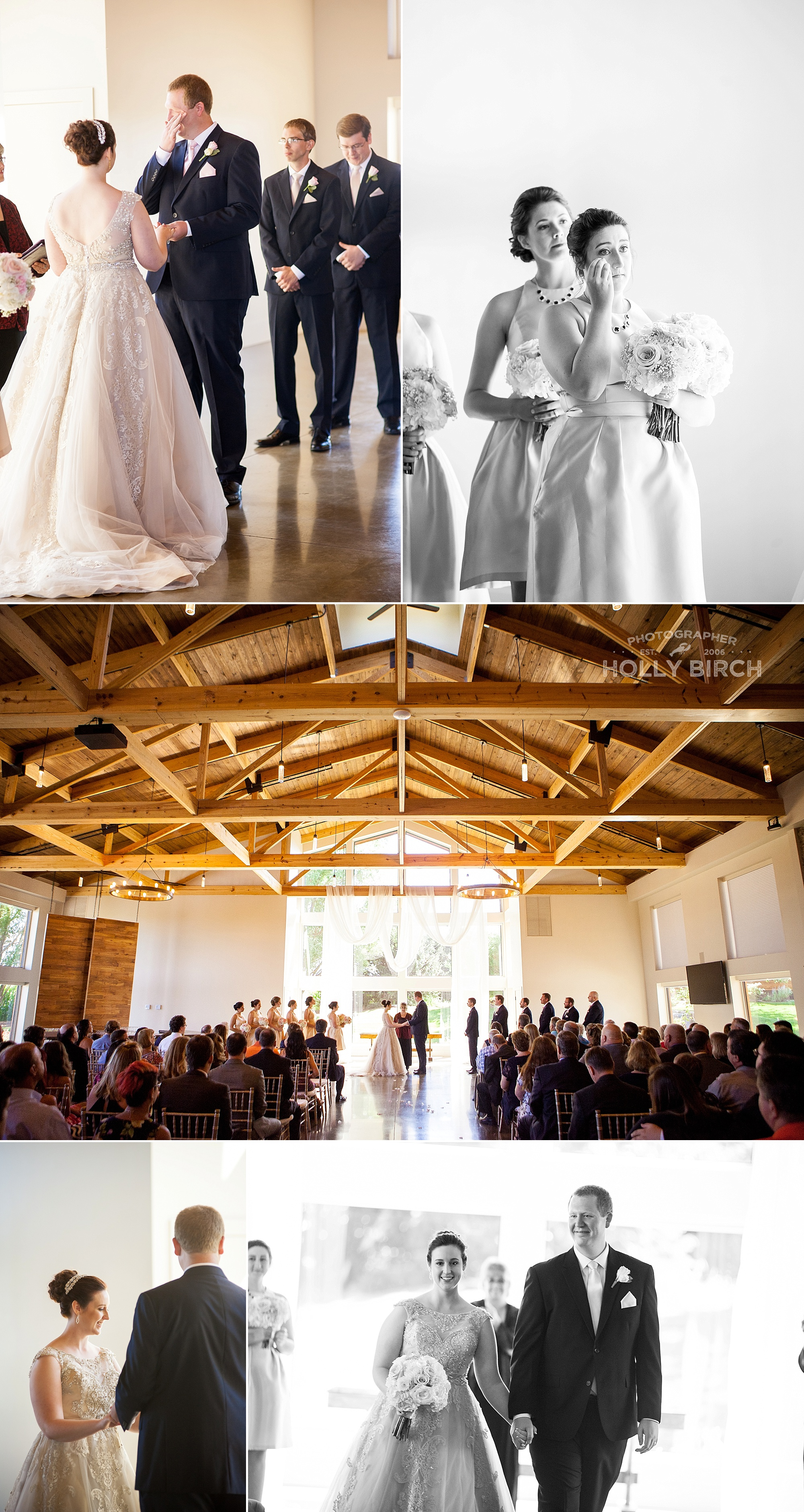 ceremony inside Pear Tree Estate
