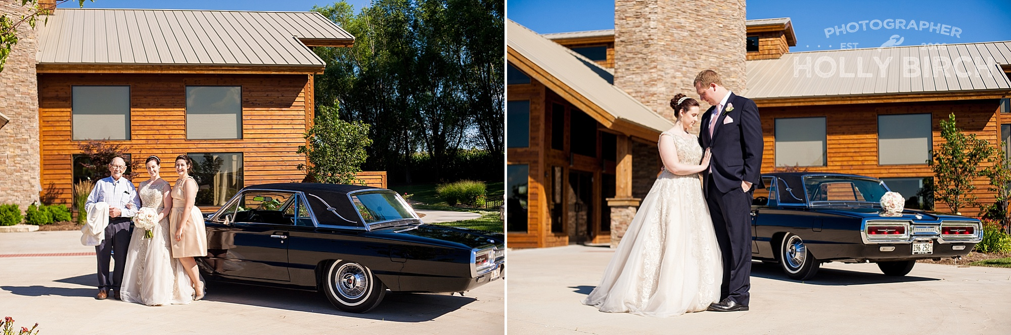 wedding with 1964 Thunderbird