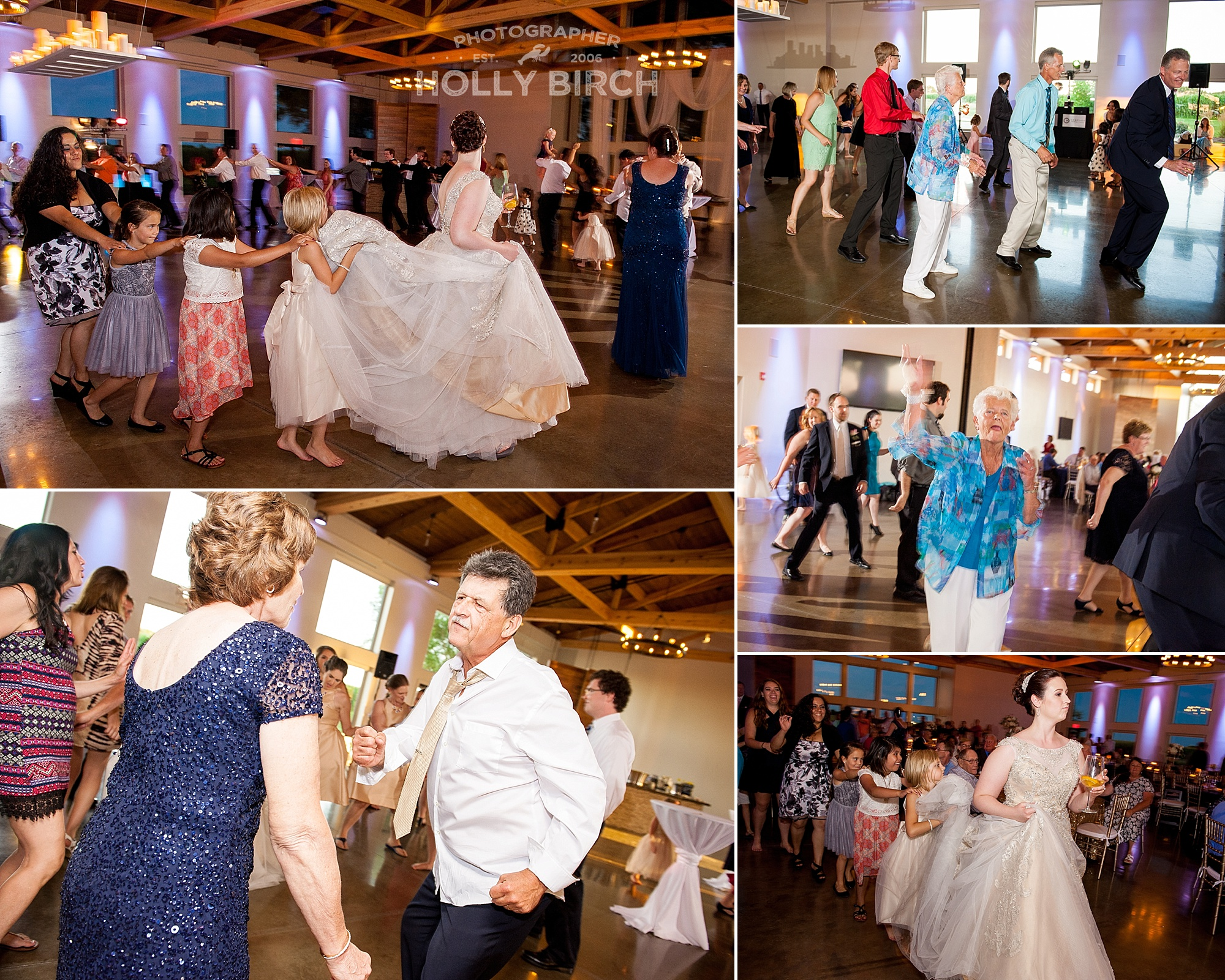 wedding guests dancing and having a good time