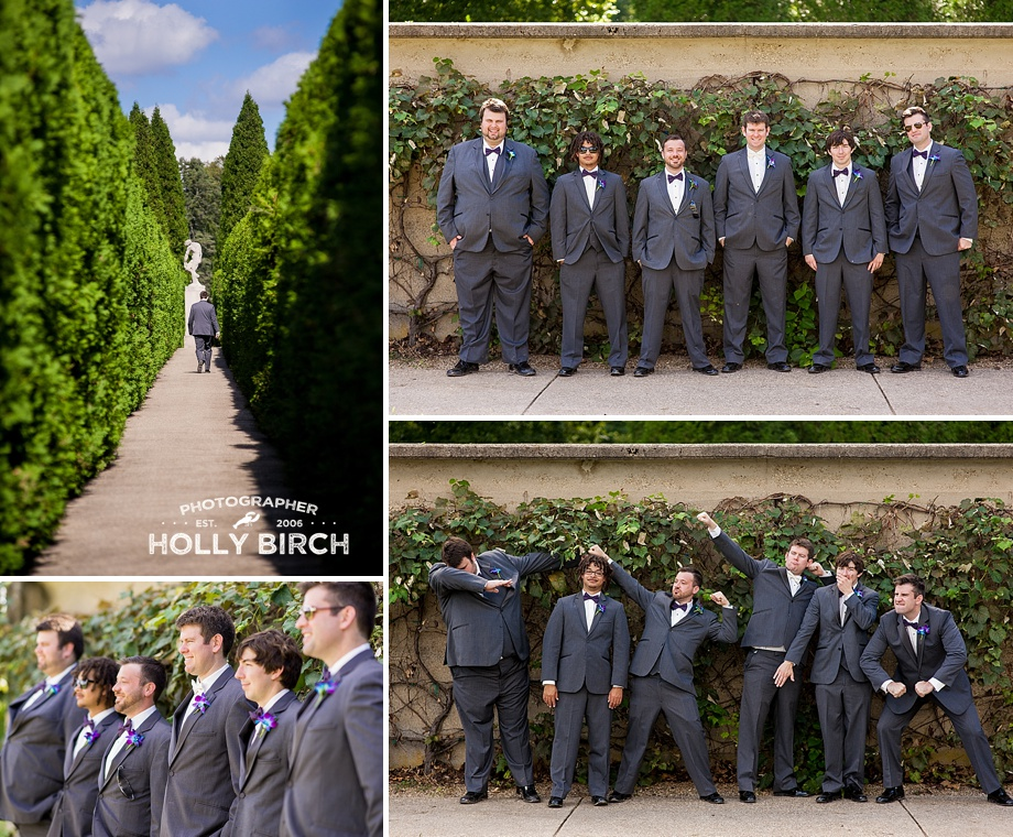 groomsmen with grapevines
