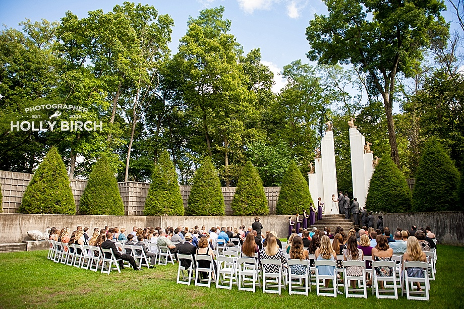 Allerton Park Sunken Gardens wedding ceremony