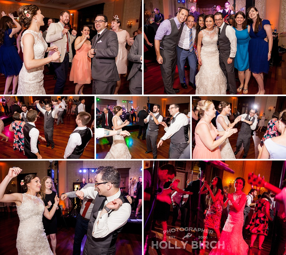 candid reception dancing photos with live band The Shenanigans