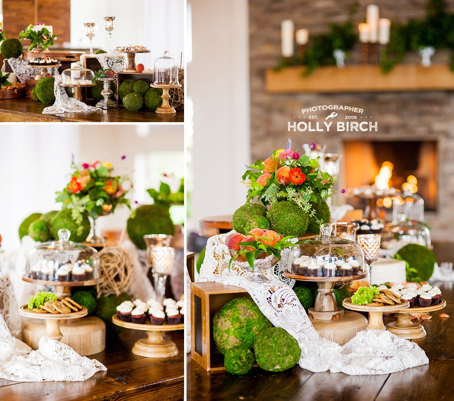 rustic farmhouse table dessert display