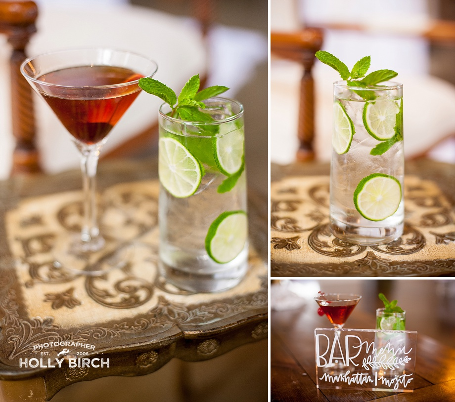 bar menu special with manhattan and mojito
