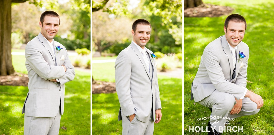handsome groom outdoor portraits