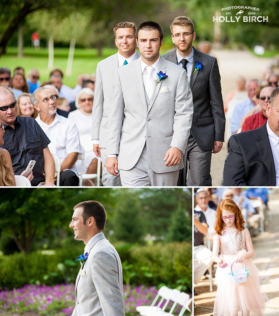 groom's processional down the aisle