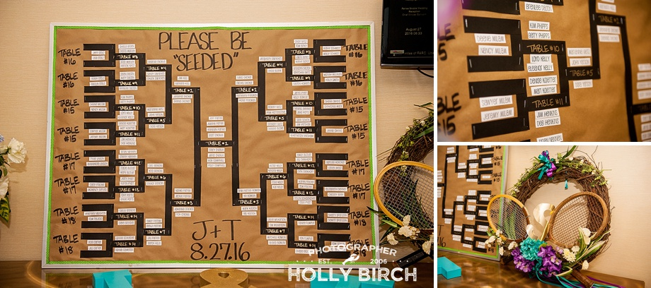 tennis tournament bracket wedding seating chart