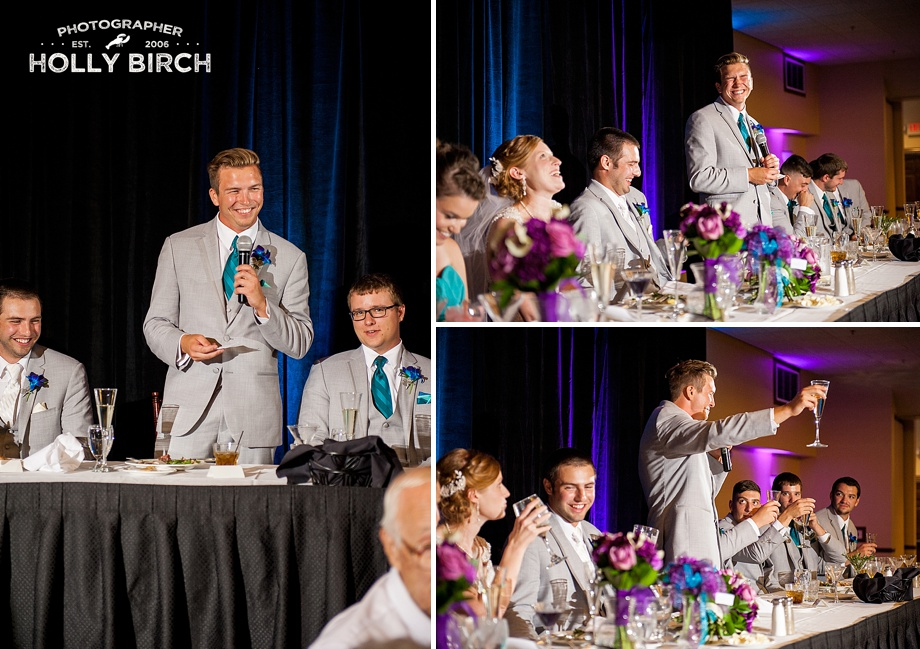 Best Man toast with MagMod grid lighting