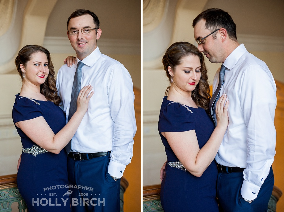 elegant engagement portrait