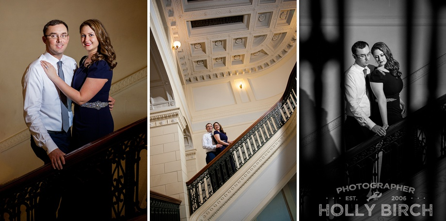 staircase photos with off-camera flash