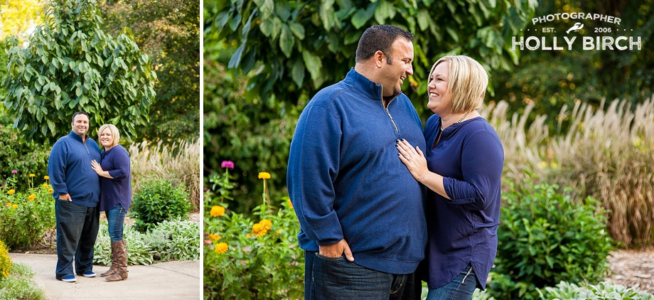 Meadowbrook Park gardens engagement photos