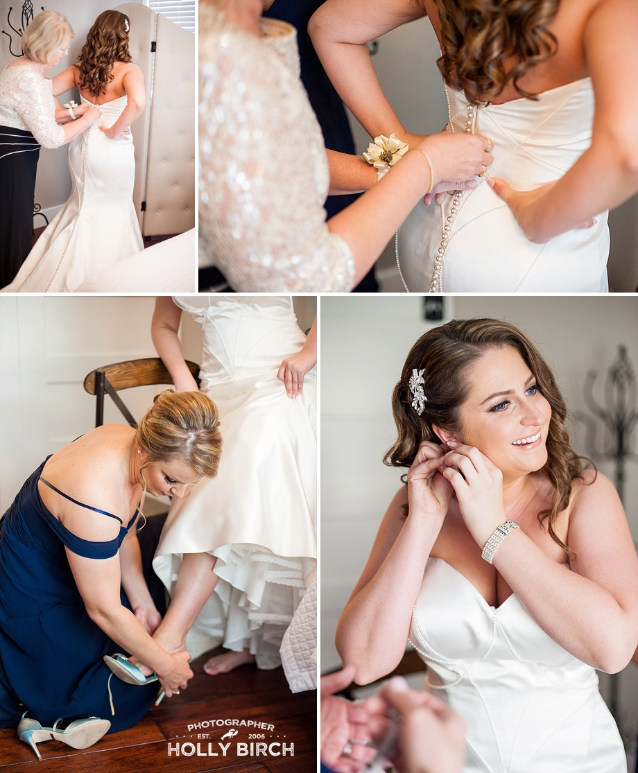 bride's finishing touches