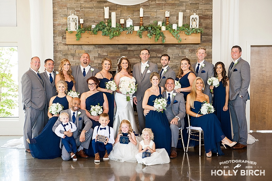 gray and navy elegant wedding party