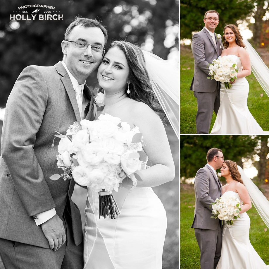 beautiful wedding couple with Midwestern wedding in Illinois
