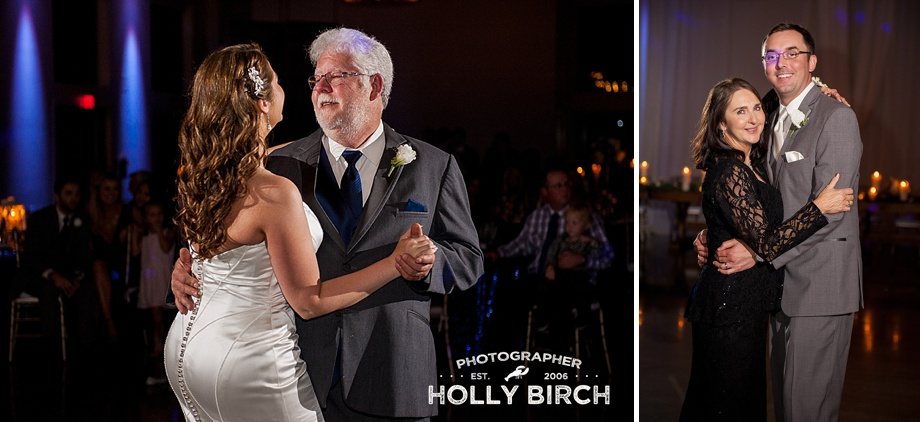 parent dances with off-camera flash