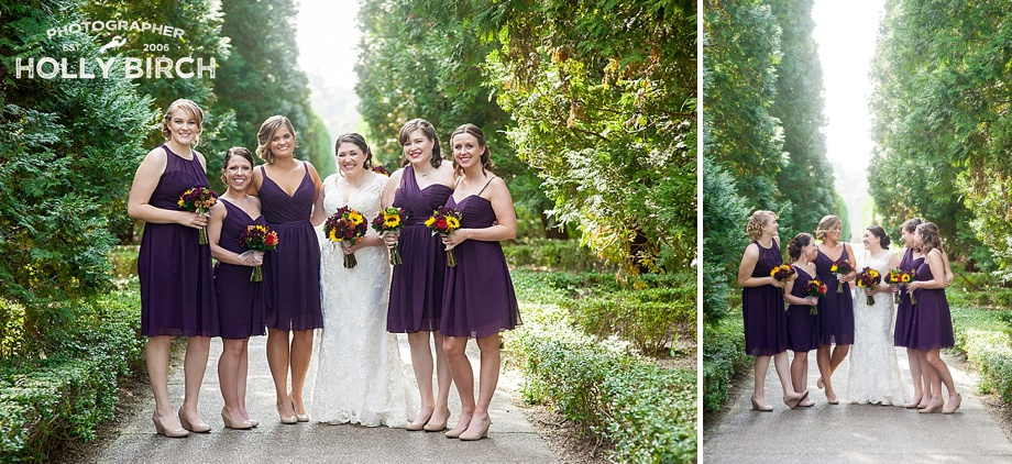 purple bridesmaid dresses from Elite Bridal