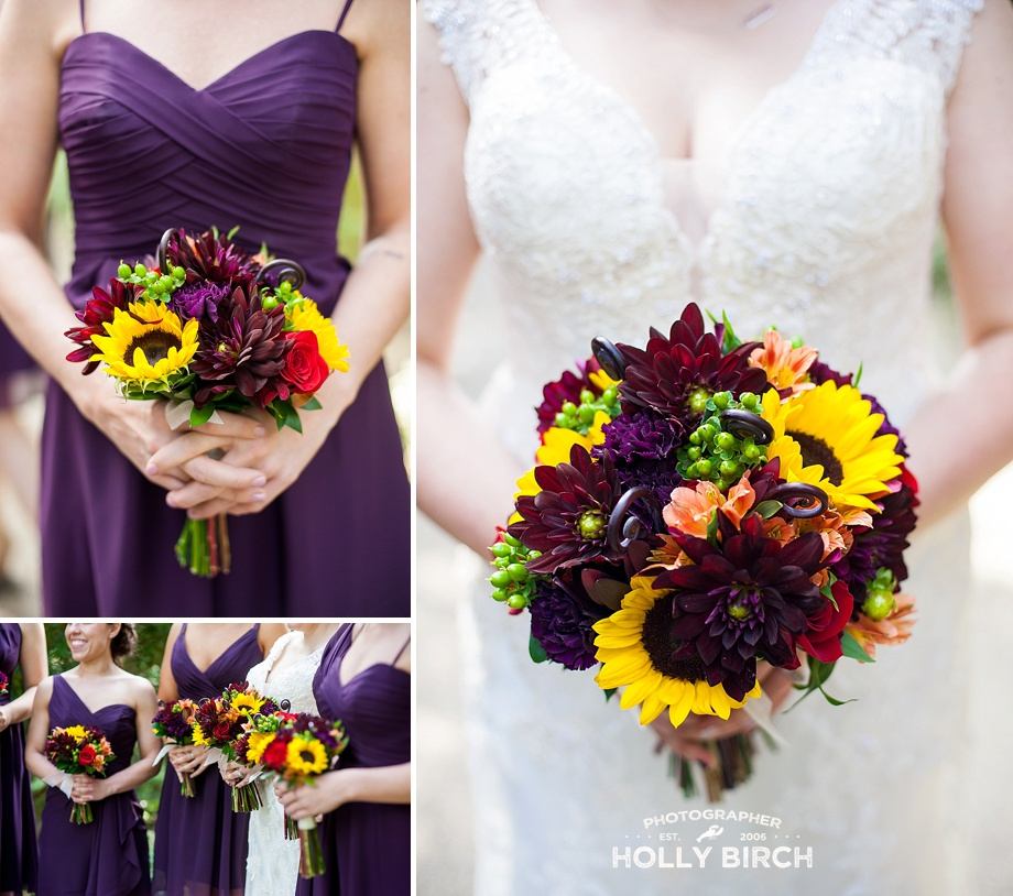 Blossom Basket purple fall bouquet