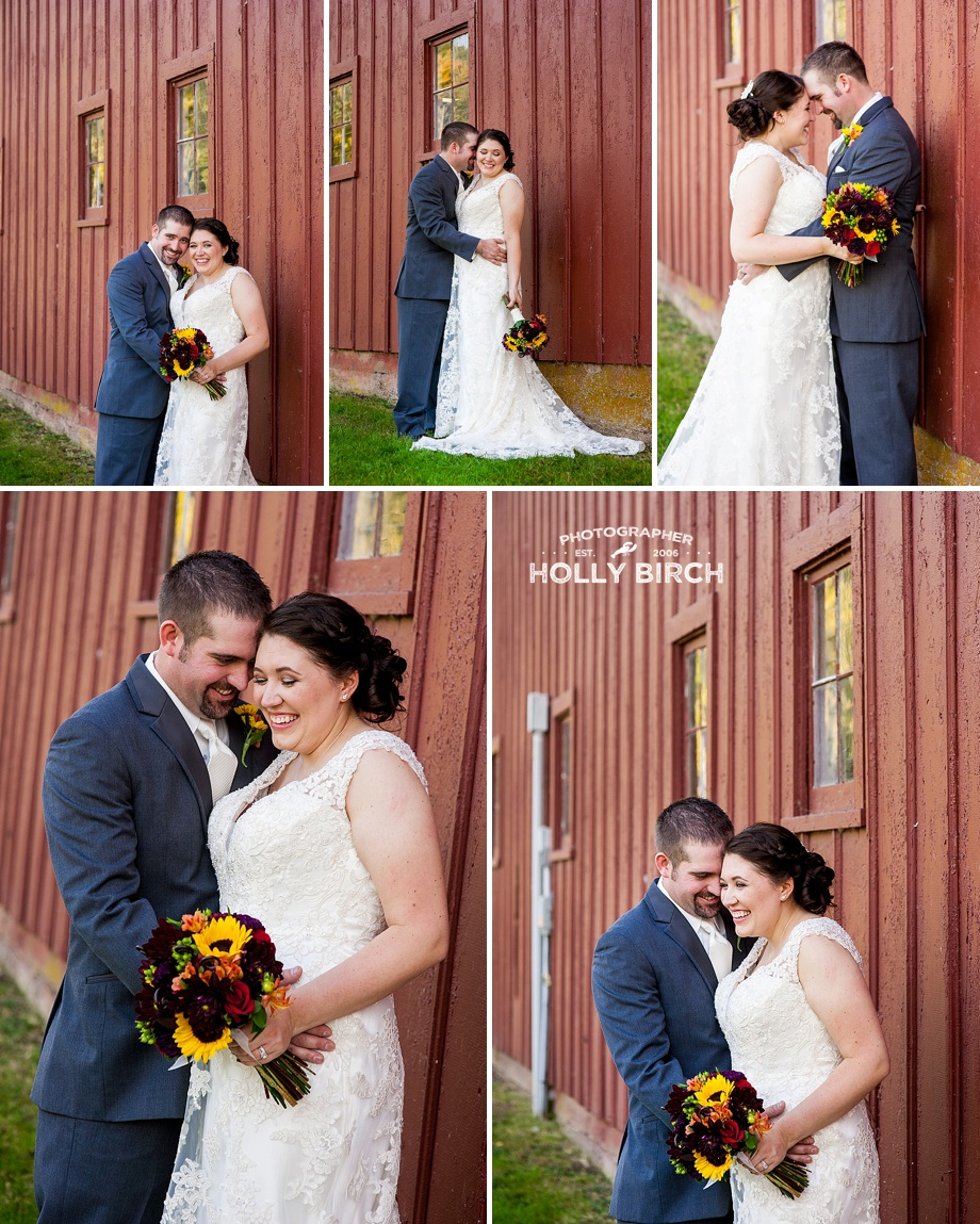romantic pictures beside red barn