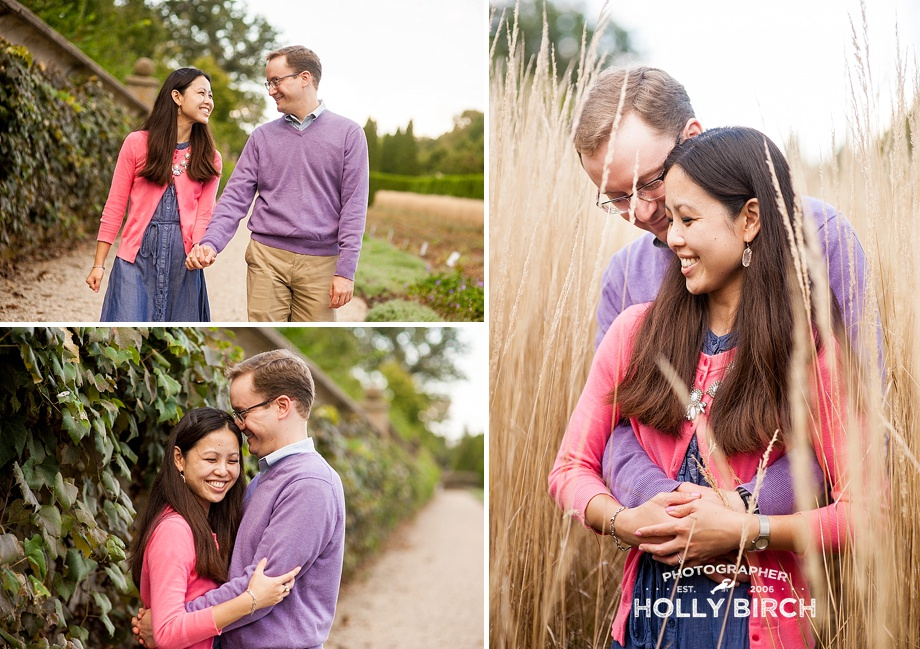 snuggling engagement pictures