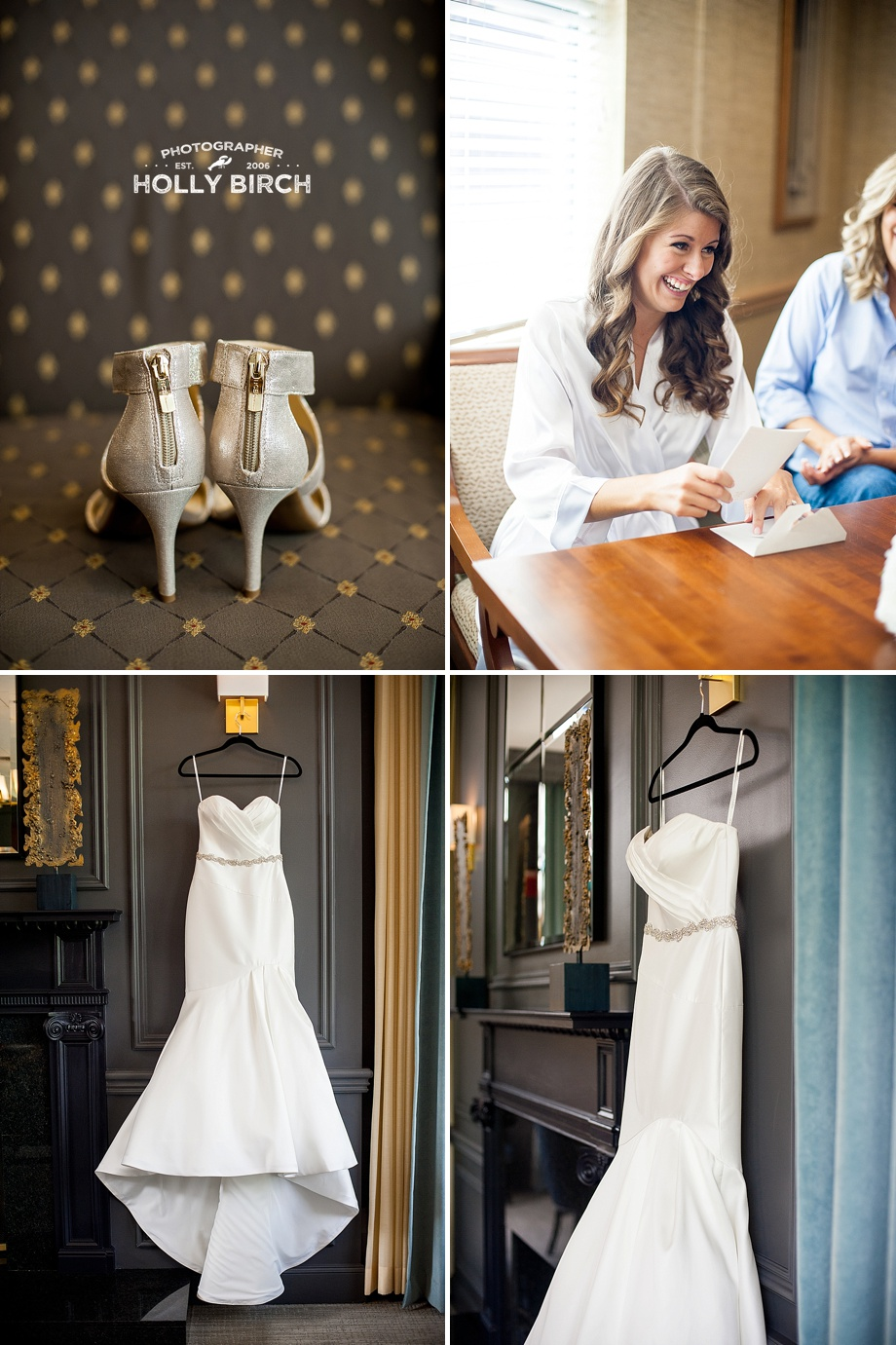 Champaign Country Club wedding dress shoes