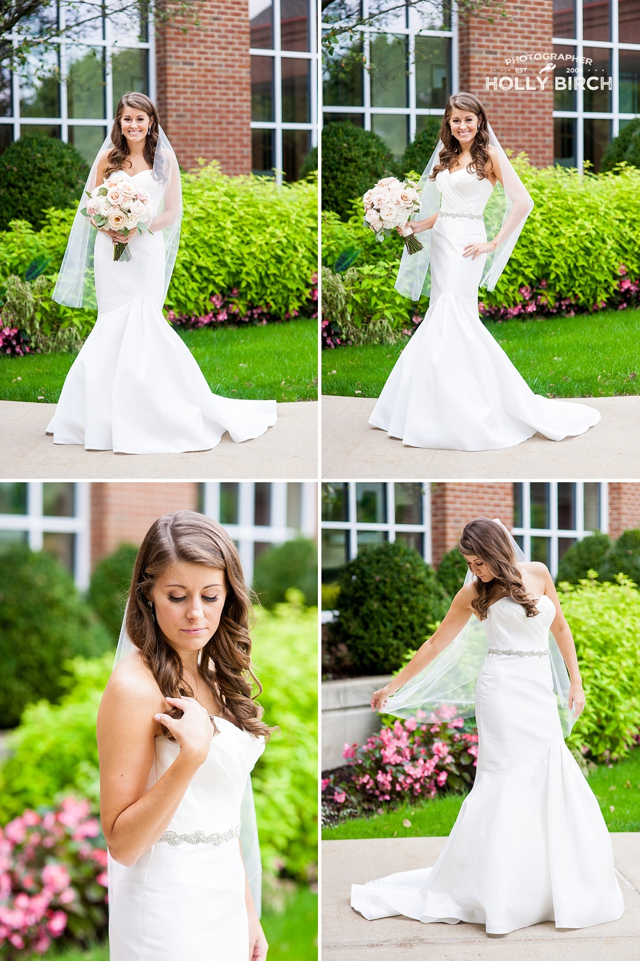 romantic bridal poses at country club