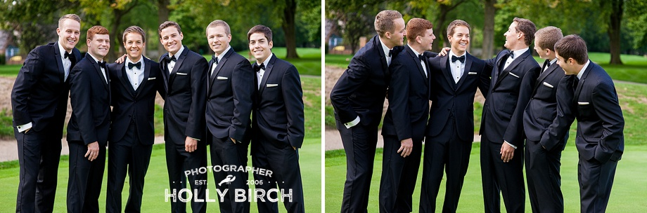 relaxed groomsmen portraits