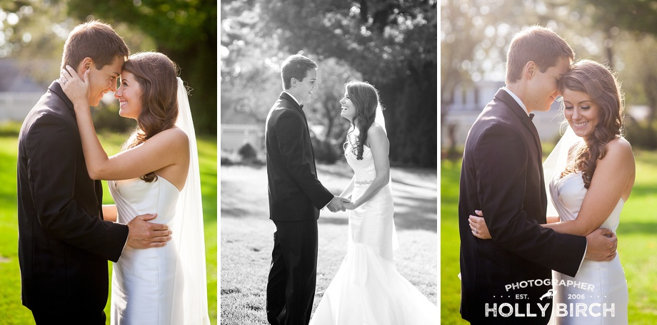 backlight wedding portraits