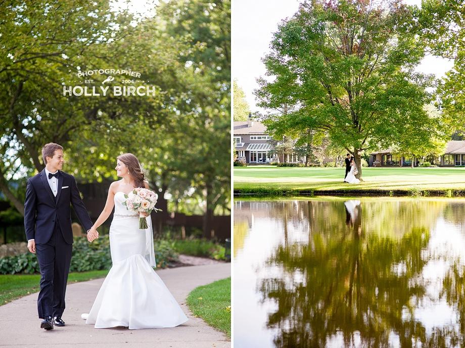 reflection wedding portrait