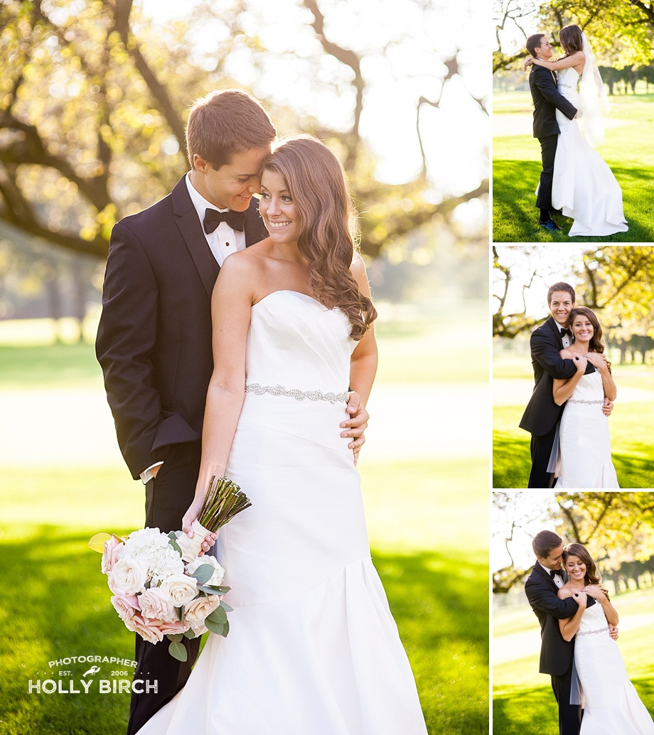 lovely fall afternoon light for wedding pictures