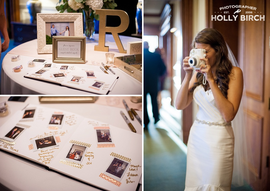Polaroid Instax camera with mpix guestbook