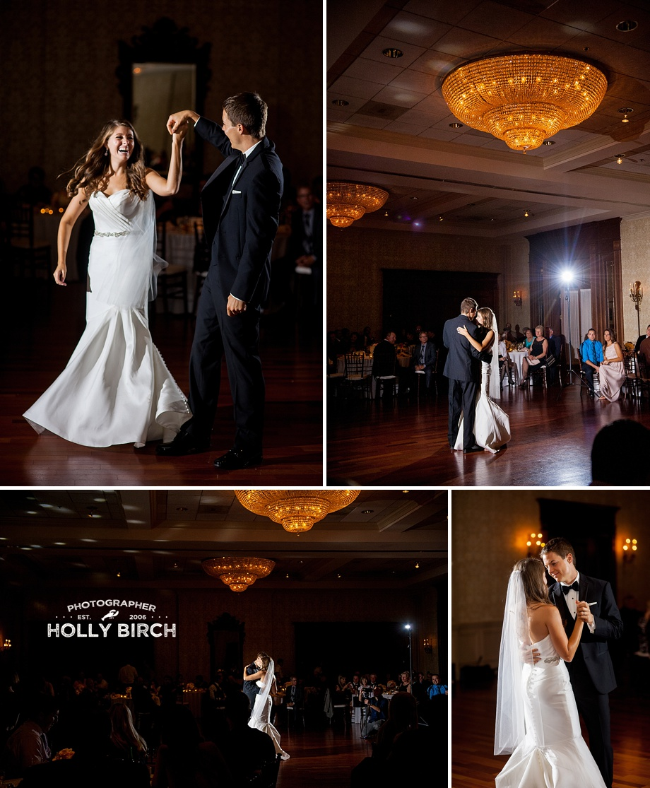 MagMod first dance photos in country club ballroom