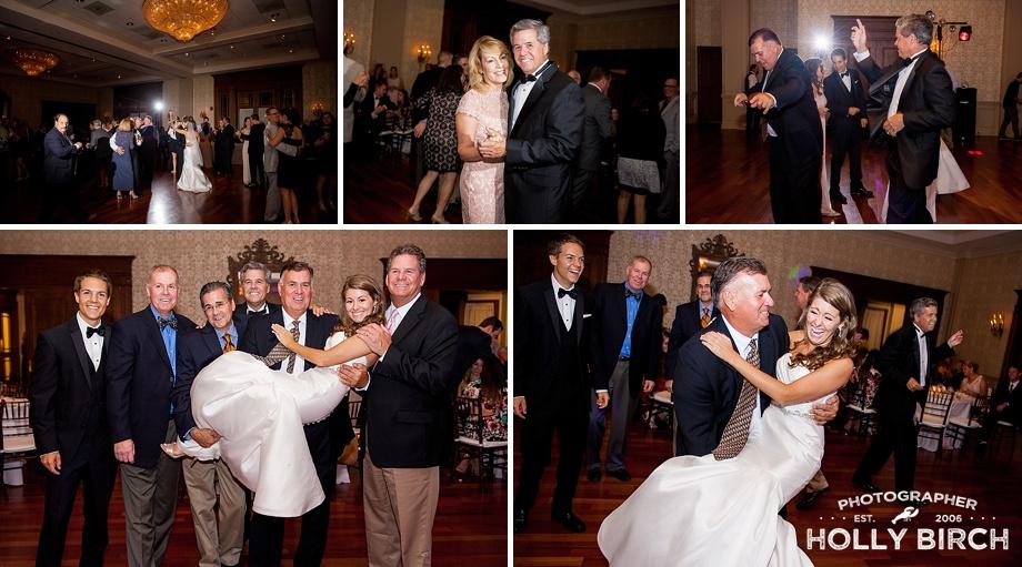 family candid photos on dance floor