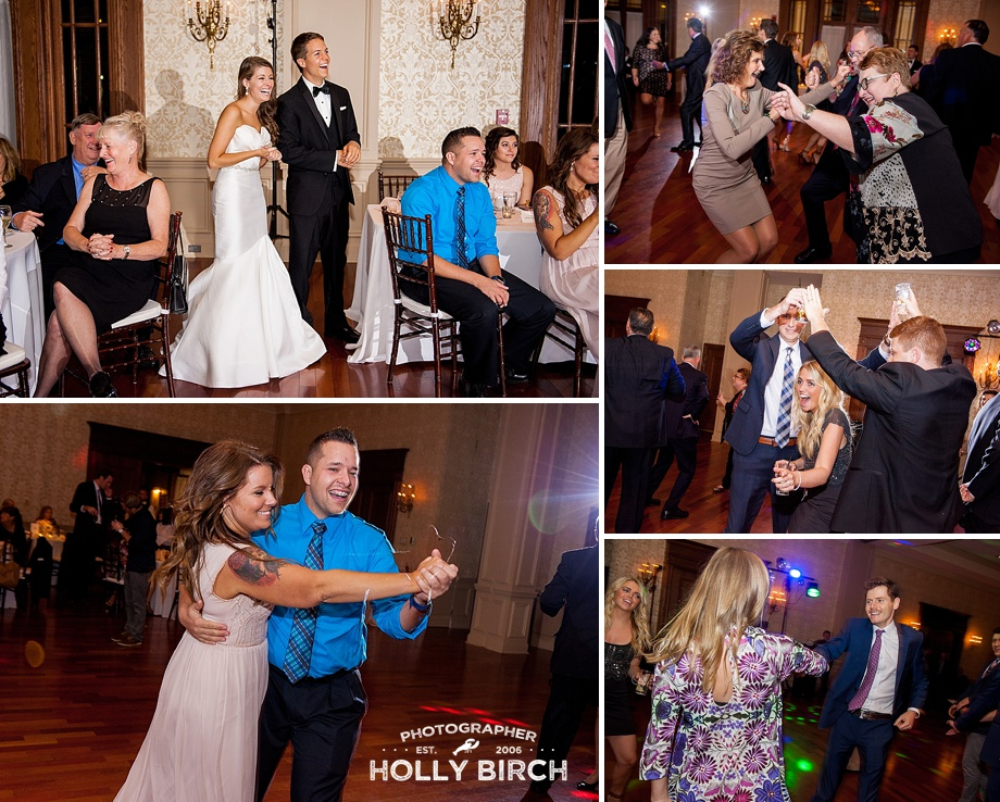 candid reception photos in ballroom