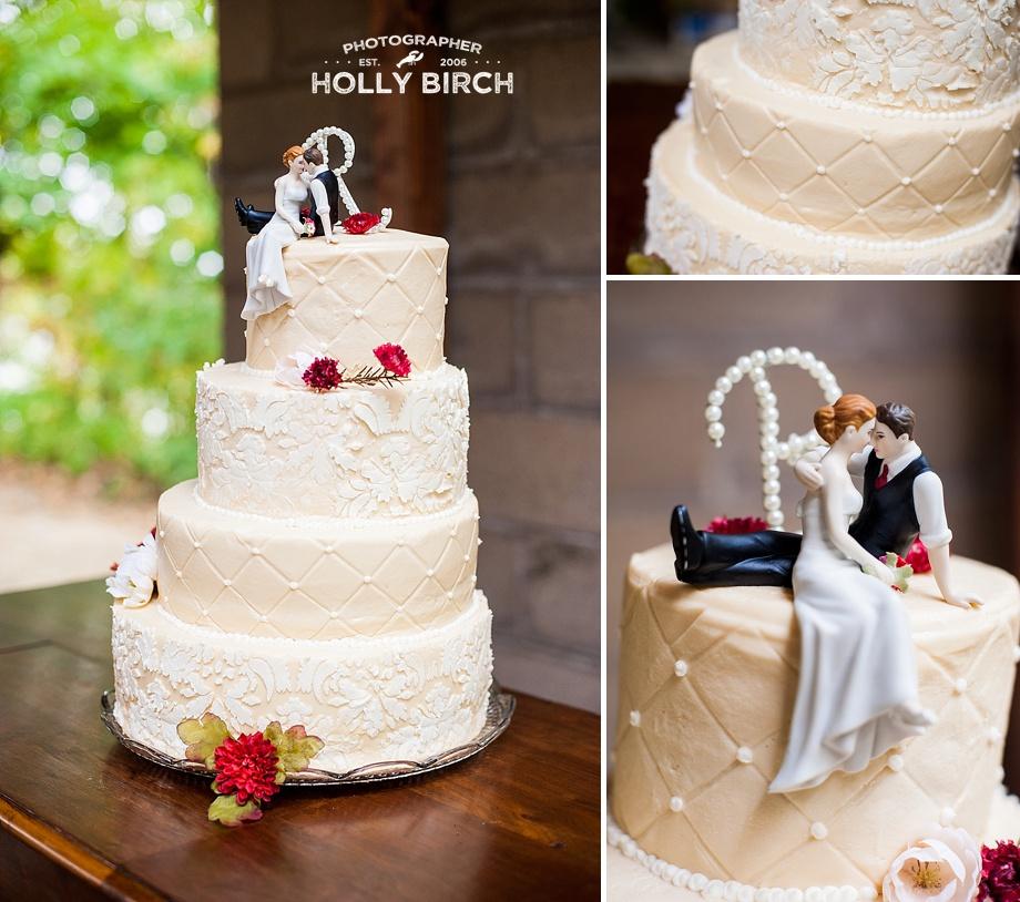 asymmetrical ivory lace cake