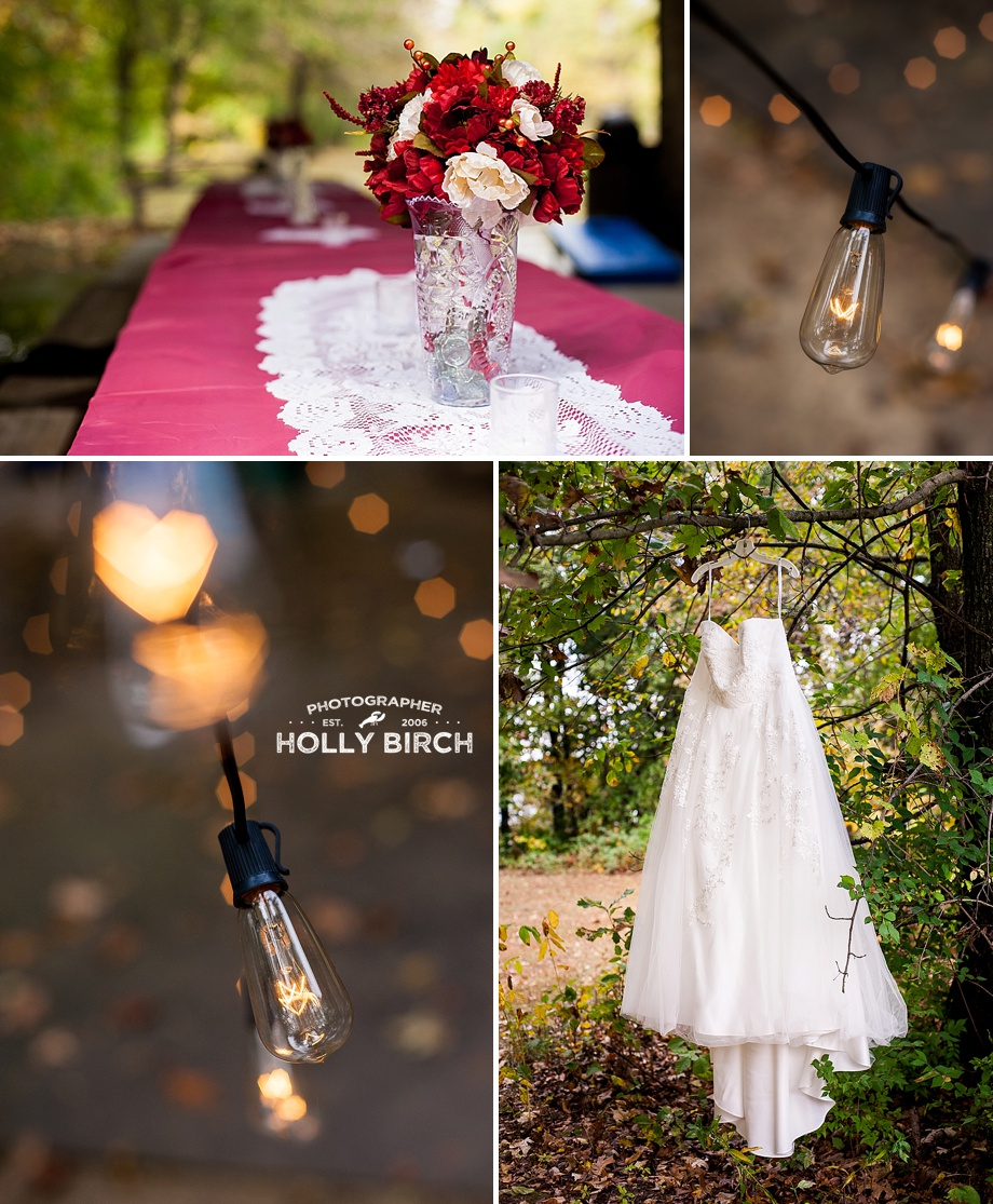 cafe light bulbs with dress photo