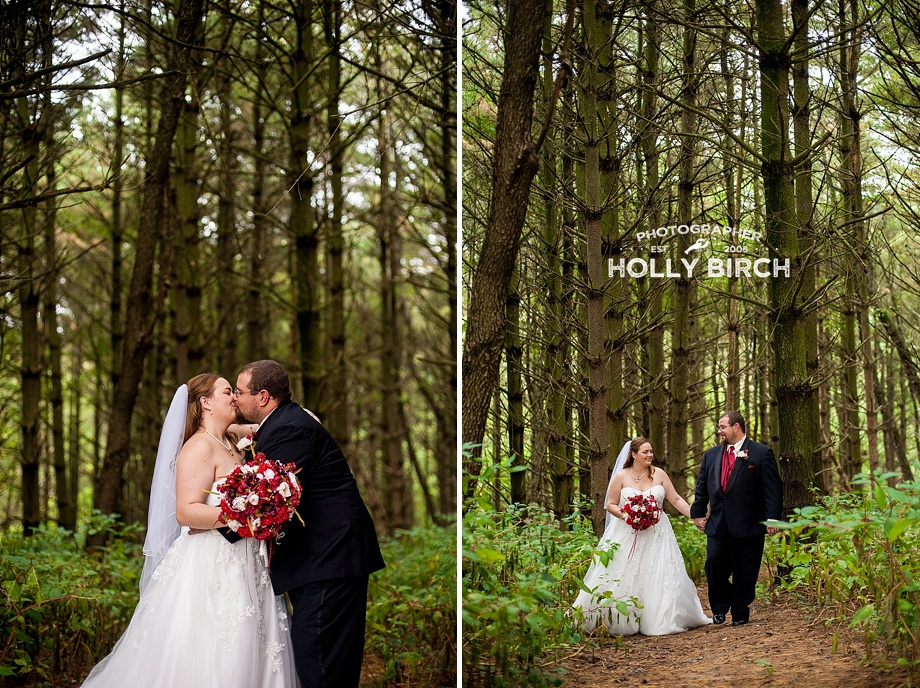 wedding portraits surrounded by nature