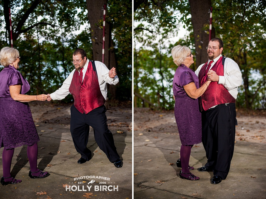 mother-son dance under the trees