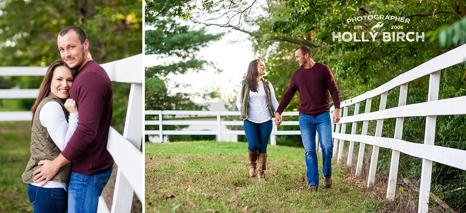 horse pasture engagement pictures