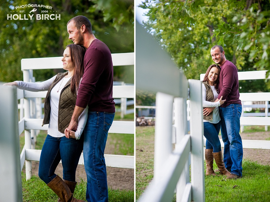 sunset engagement photos on horse farm
