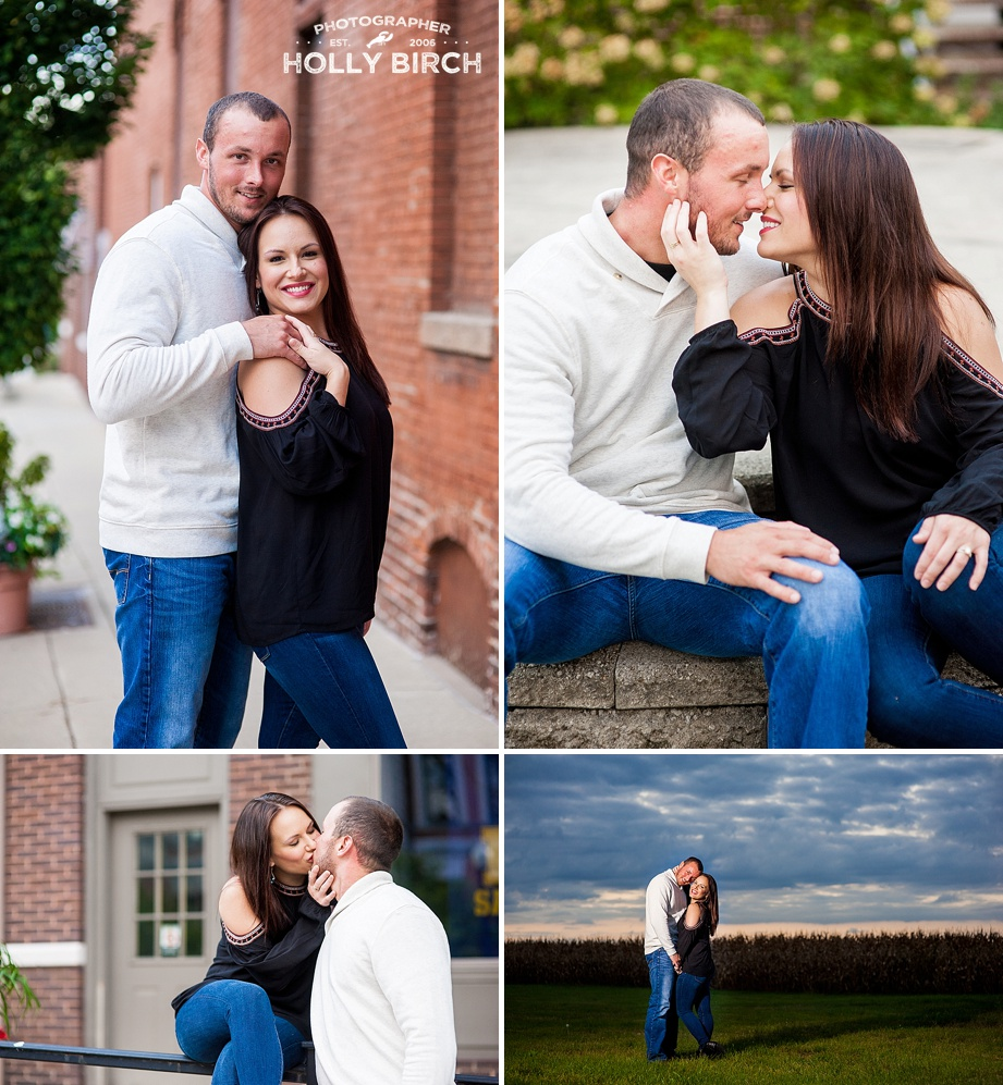 downtown Monticello square engagement session