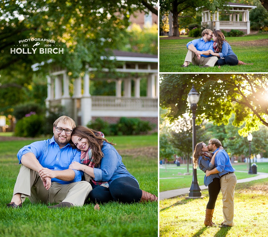 West Side Park gazebo engagement session
