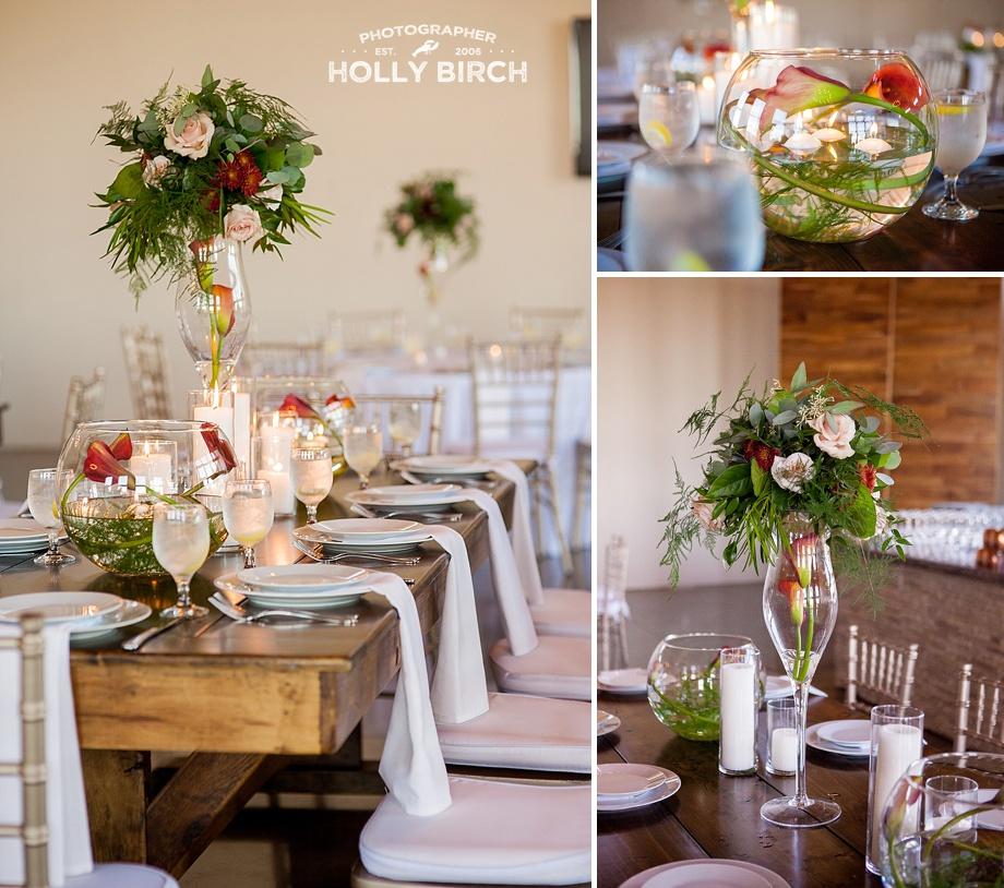 pear tree farmhouse tables reception