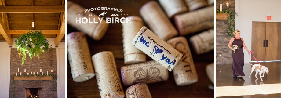 """We love you"" wine corks for guest sign-in"