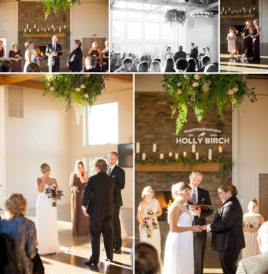 sun streaming in during heartfelt wedding vows